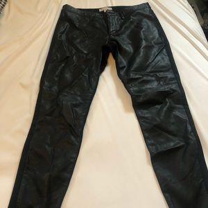 Banana Republic Pants - Banana republic leather front ankle pants